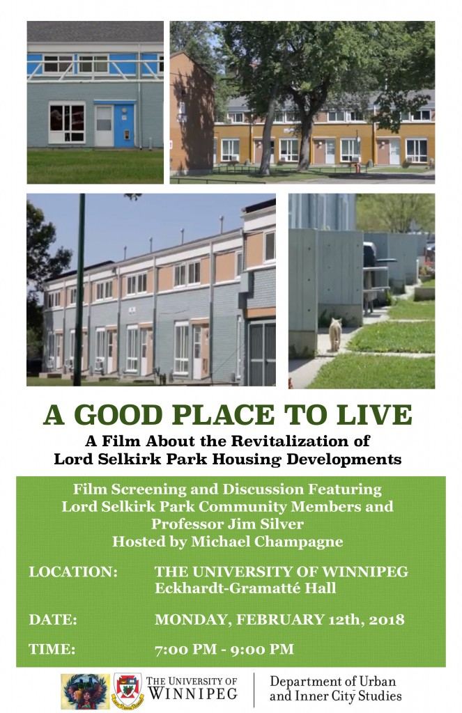 A Good Place to Live Event Flyer -1