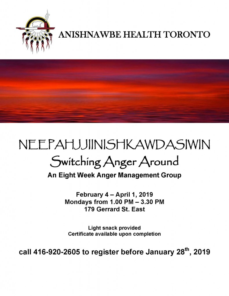 AHT Anger Management Flyer Winter 2019