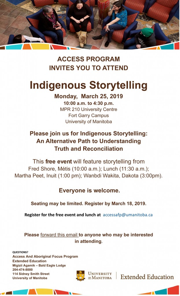 Indigenous Storytelling  March 25