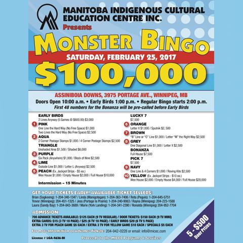 MICEC Monster Bingo