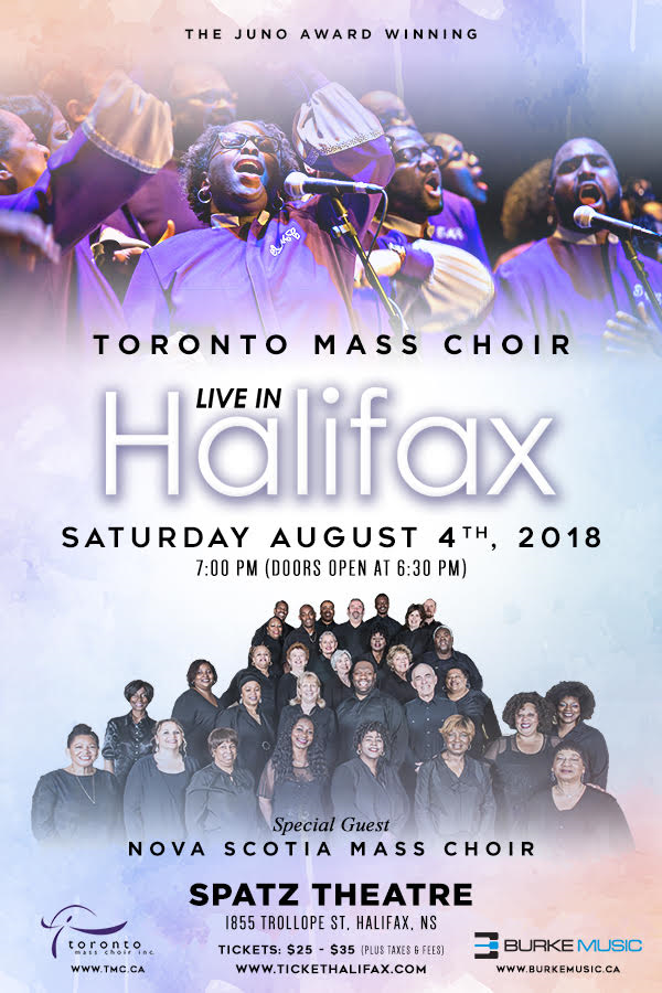 Toronto Mass Choir Halifax Concert Poster